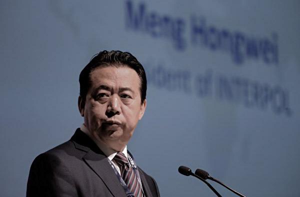中国原公安部副部长孟宏伟。(AFP)