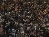 2019年10月14日香港中环集会支持《人权与民主法案》。(美联社)