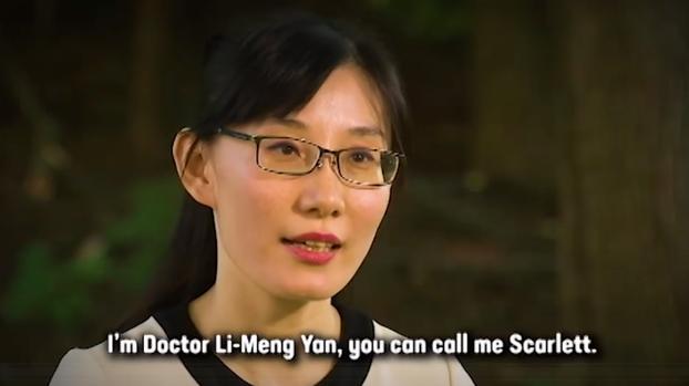 中国外逃病毒专家闫丽梦接受美媒专访。(视频截图)