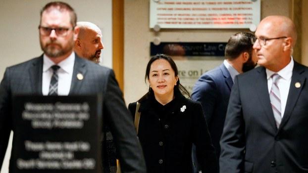 加拿大总检察长在近日提交给加拿大不列颠哥伦比亚省一法庭的文件中表示,以银行欺诈罪向美国引渡华为副总裁孟晚舟的条件已经满足。(路透社图片)