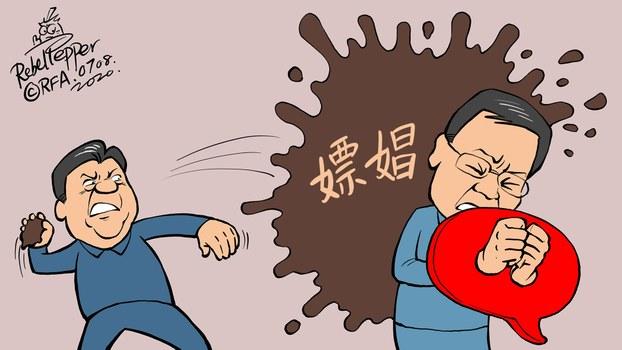 """许章润批评习近平""""被嫖娼""""。(变态辣椒)"""