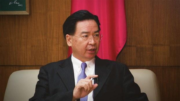 台湾外交部长吴钊燮接受自由亚洲电台专访。(RFA)