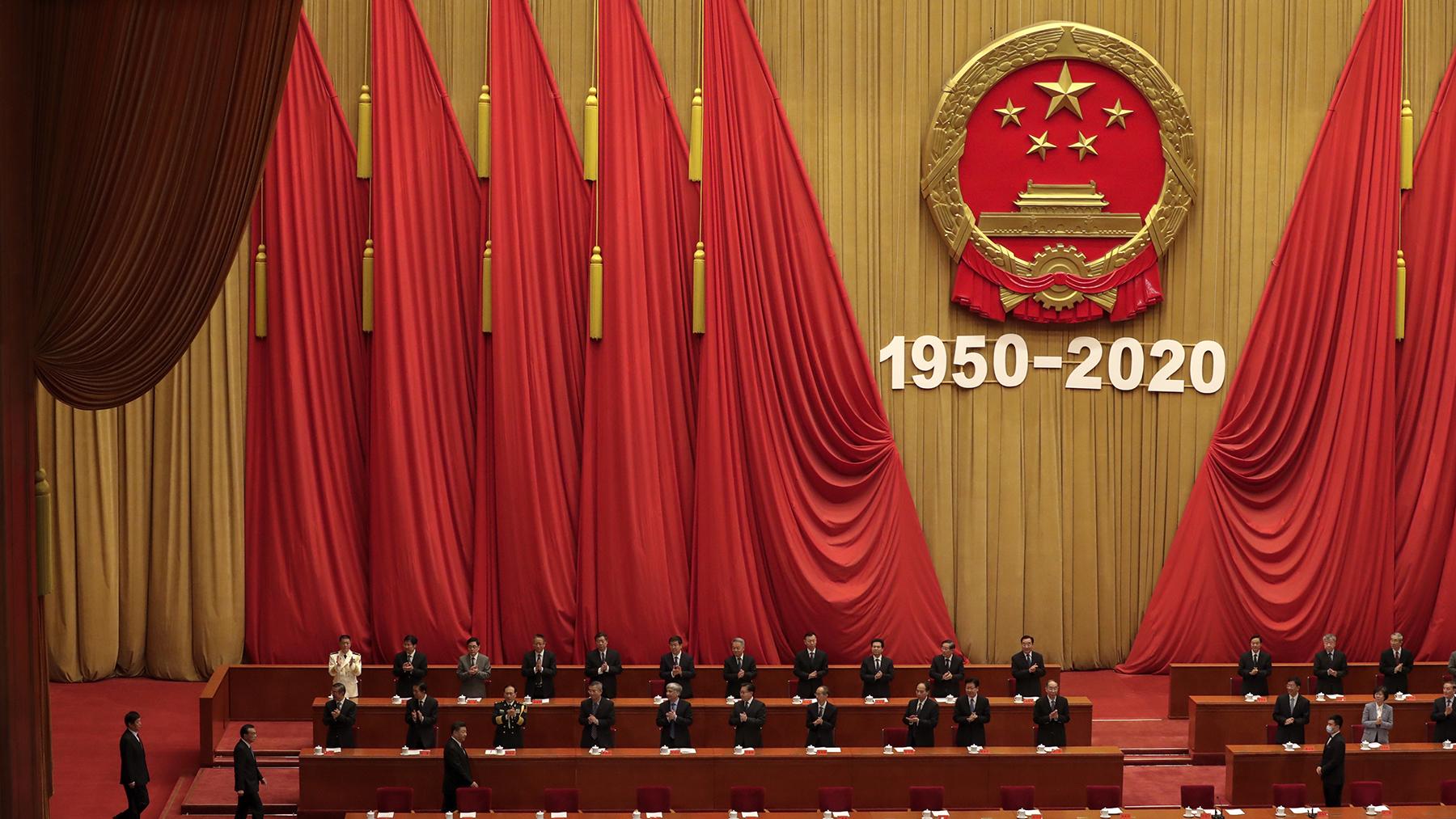 2020年10月22日,中国举行纪念朝鲜战争70周年活动。(美联社)