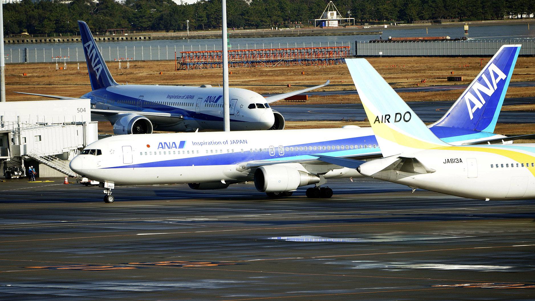 2020年1月29日,日本租用的飞机在中国撤侨。(美联社)