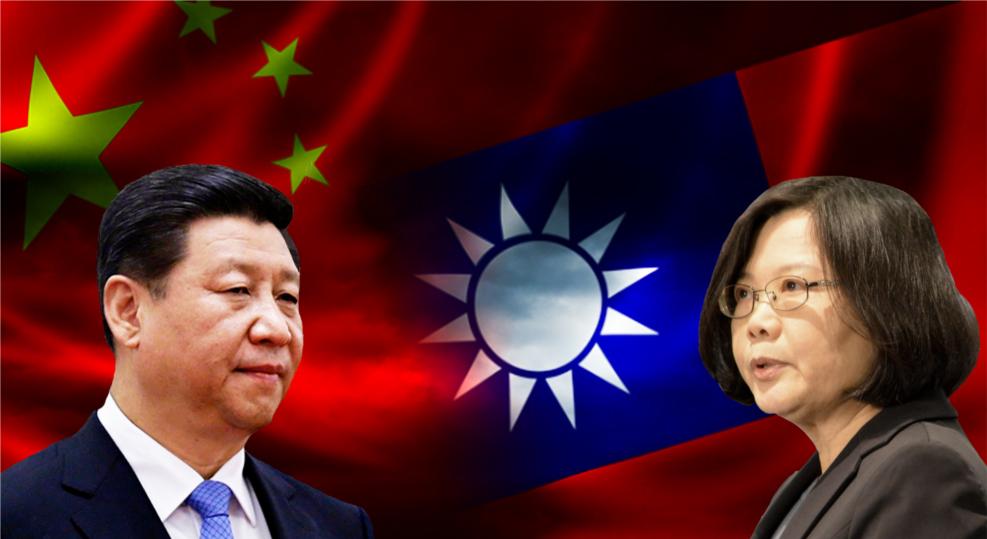 中国国家主席习近平和台湾总统蔡英文。(public domain)
