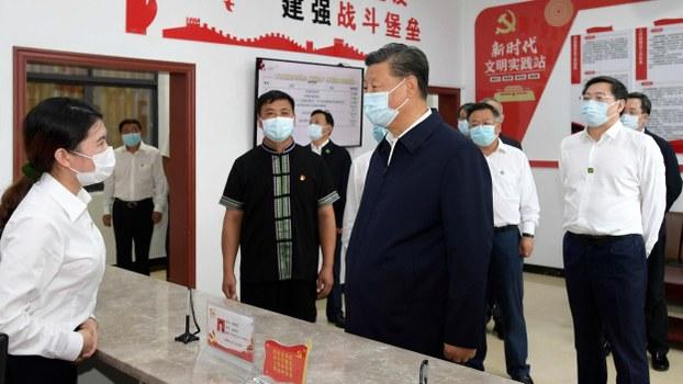 中国国家主席习近平视察湖南郴州汝城县。(CCTV视频截图)