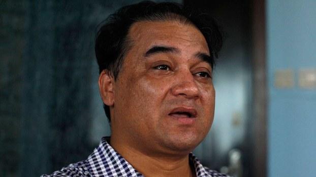 资料图片:维吾尔学者伊力哈木‧土赫提。(美联社)