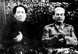 毛泽东与斯大林。(public domain)