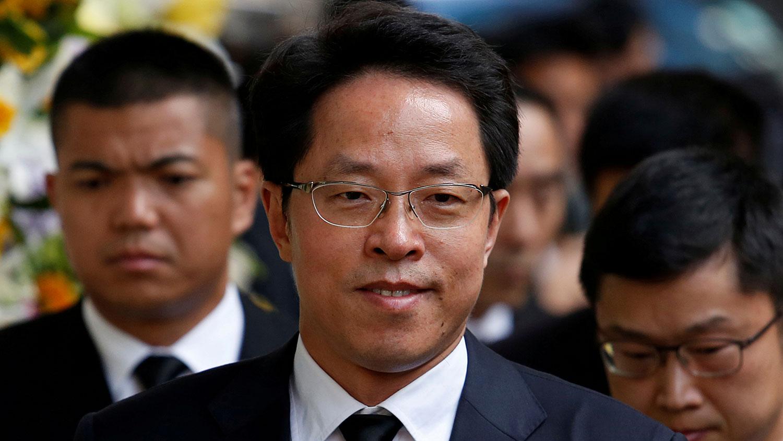 港澳办主任张晓明被免职。(路透社)
