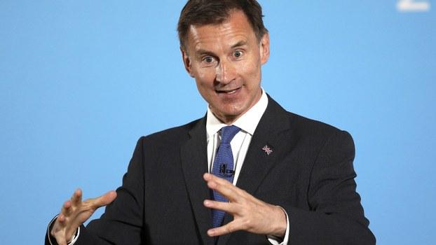 英国外相杰里米·亨特(Jeremy Hunt)。(美联社)