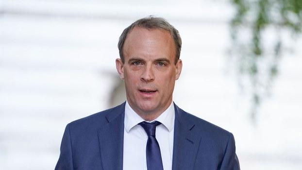 英国外交大臣拉布(Dominic Raab)呼吁中国悬崖勒马,履行《中英联合声明》的国际义务,并担负起身为国际社会领袖应有的国际责任。(法新社图片)