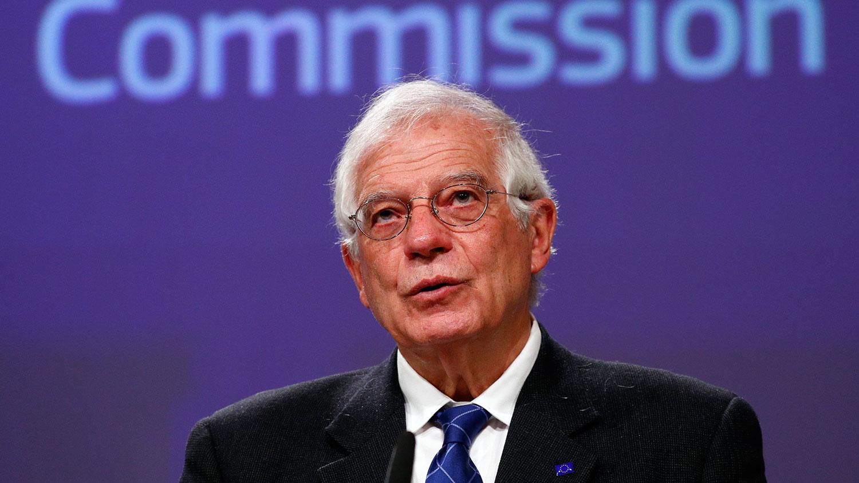 欧盟外交高级代表博雷尔(Josep Borrell)指出,欧盟严重关切中国通过港版国安法,认为此举不符合《中英联合声明》和《基本法》。(美联社图片)