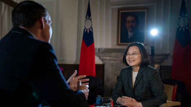 台湾的总统蔡英文14日接受《BBC》专访 (总统府官网)