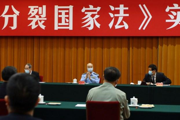 北京29日举行《反分裂国家法》15周年座谈会。(资料照,路透社)