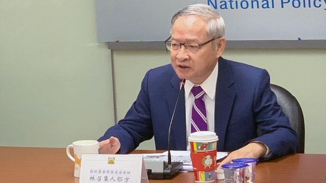 国民党智库国防安全组召集人林郁方表示,中共首要任务维稳为要。(记者 黄春梅摄)