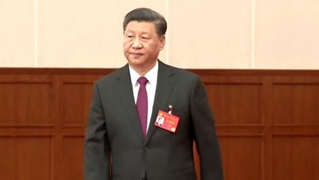 2019年10月31日,习近平出席第十九届中央委员会第四次会议。(视频截图/路透社)