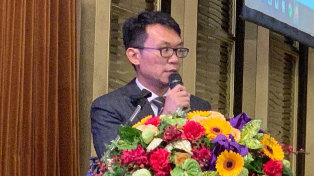台湾学者王智盛认为,四中全会对台政策促统远大于反独。(记者 黄春梅摄)