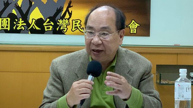 """台北市前副市长丁庭宇认为,""""第四权""""有独立性。(记者 黄春梅摄)"""