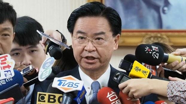在台湾的外交部长吴钊燮称,他的工作不是谄媚中国。(资料照)
