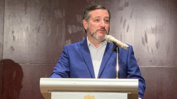 2019年10月9日,美国联邦参议员克鲁兹(Ted Cruz)抵台访问,克鲁兹在记者会上表示,很荣幸参加台湾的双十庆典。(记者 黄春梅摄)