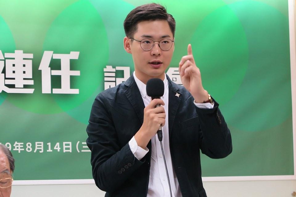基进党战略企划部主任颜铭纬(图源:台独建国联盟脸书)