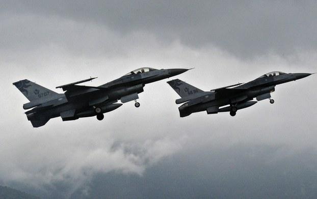 华邮透露特朗普政府将出售台湾F-16V战机。(资料照,AFP)