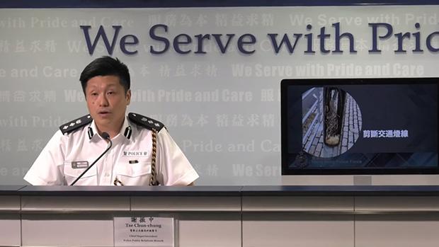 警察公共关系科总警司谢振中。(图源:香港警察Facebook)