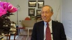 台湾的国防部前副部长林中斌11月27日接受自由亚洲电台专访,分析九合一选举后的美中台关系。(夏小华摄)