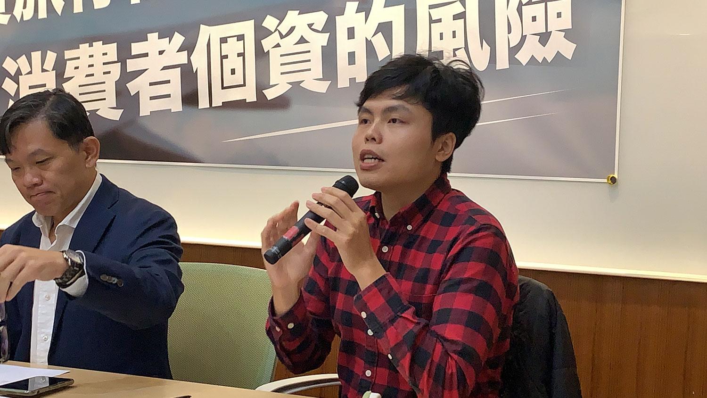 台湾公民阵线秘书长江旻谚。(记者夏小华摄)