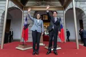 蔡英文、赖清德5月20日宣誓就任中华民国第15任总统、副总统。(总统府提供)