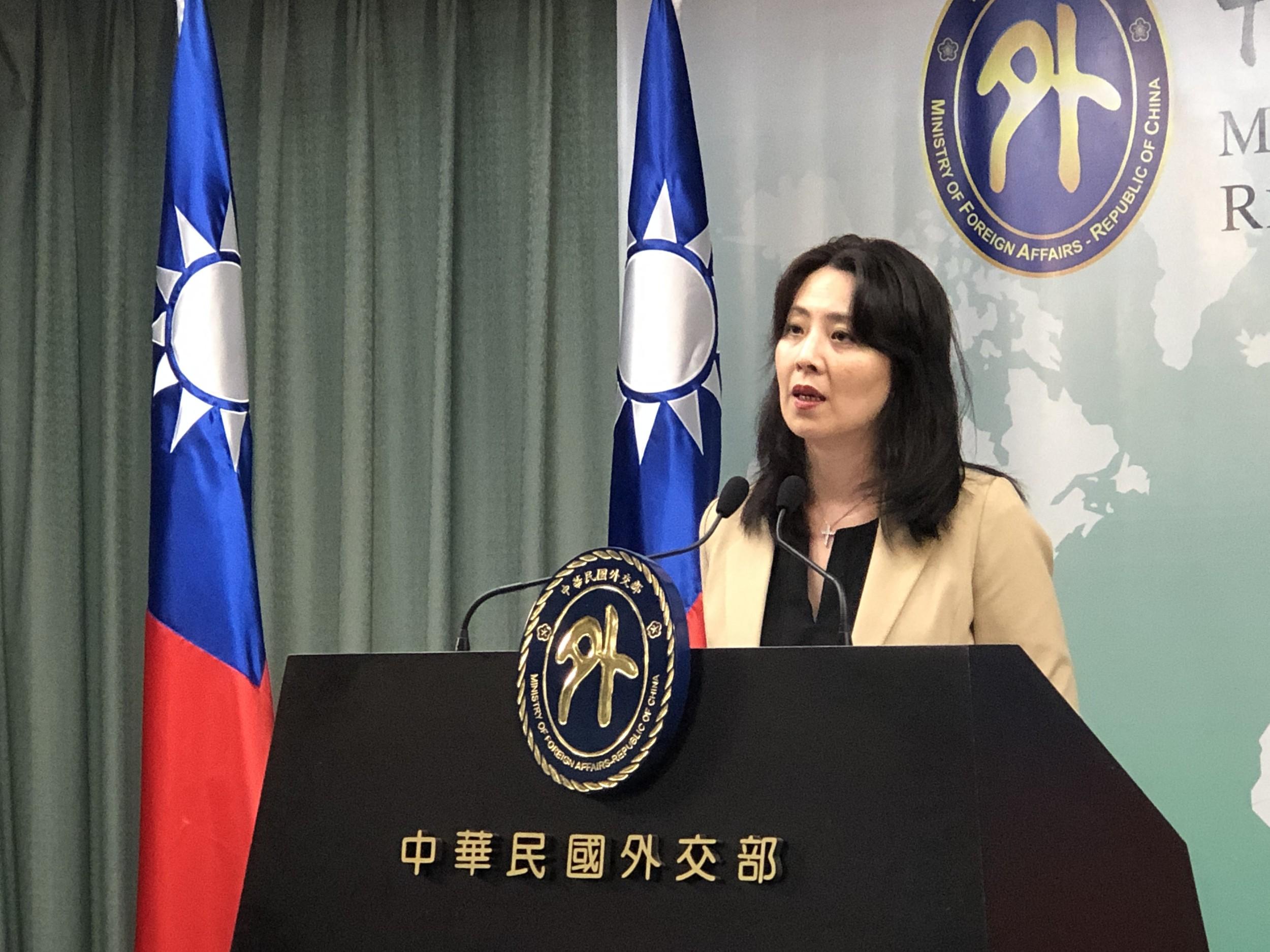 外交部发言人欧江安。(记者夏小华摄)
