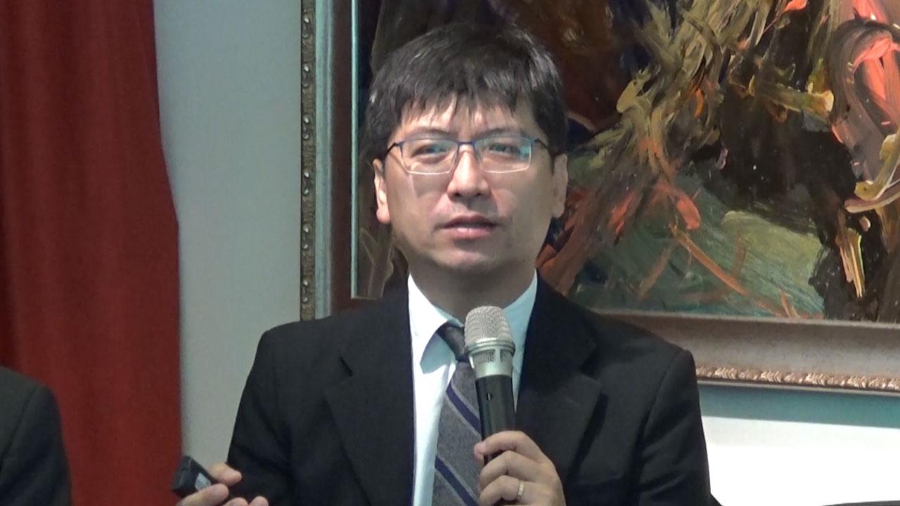 政治大学选举研究中心主任蔡佳泓。(记者夏小华摄)
