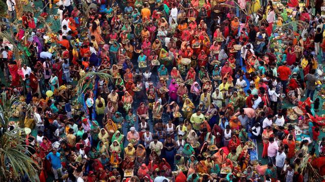印度被看好十年后成为世界第二大经济体。(路透社)