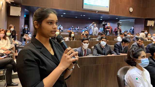 """台湾印度经贸协会25日在台北举办""""台商前进印度的尖兵─在台的印度留学生如何发挥综效""""座谈会,吸引许多印度留学生。(记者夏小华摄)"""