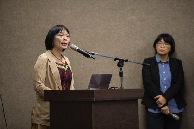 促进转型正义委员会代理主委杨翠。(黄谦贤提供)