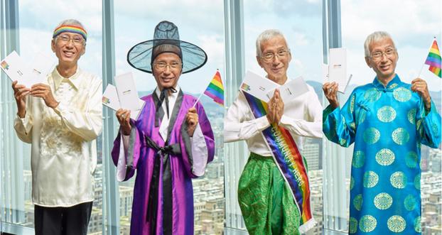 台湾婚姻平权倡议者祁家威将蔡英文送给他的笔复刻寄送给菲律宾、韩国、泰国、越南等四国元首,盼他们的国家也能尽快通过同性婚姻法。(台湾同志运动发展协会提供)