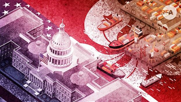 美国若取消香港特殊关税地位会怎样?(自由亚洲电台制图)