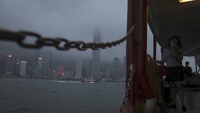 2020年5月28日,乌云笼罩香港。(美联社)