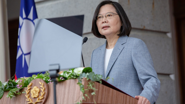 """2020年5月20日,蔡英文发表总统就职演说,重申绝不接受北京当局以""""一国两制"""" 矮化台湾,破坏台海的现状。(路透社)"""