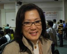 宋曹琍璇是宋美龄幼弟宋子安的儿媳,经家族授权参与蒋介石日记解密工作。 (记者萧融拍摄)