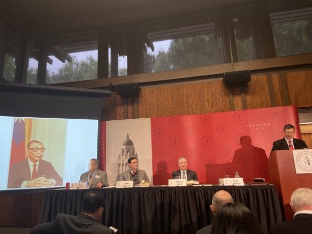 美国斯坦福大学胡佛研究院12月17日召开研讨会,宣布将于明年2月完整公布《蒋经国日记》。(王允摄影)