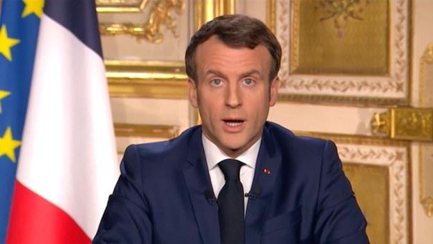 2020年3月16日,鉴于武汉肺炎疫情在法国没有出现任何缓和的迹象,法国总统马克龙宣布全法本土和海外省及领地15天内限行。(美联社)