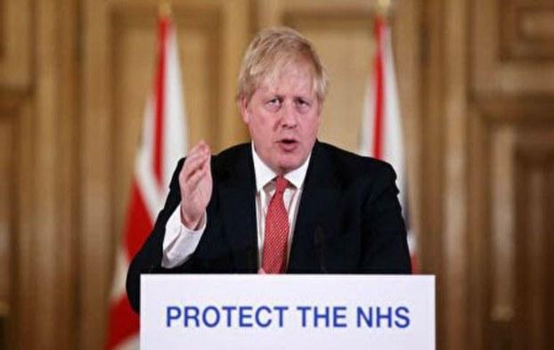 2020年3月23日,英相鲍里斯·约翰逊(Boris Johnson)宣布命令,封锁全国以遏制中共病毒的传播。(法新社)