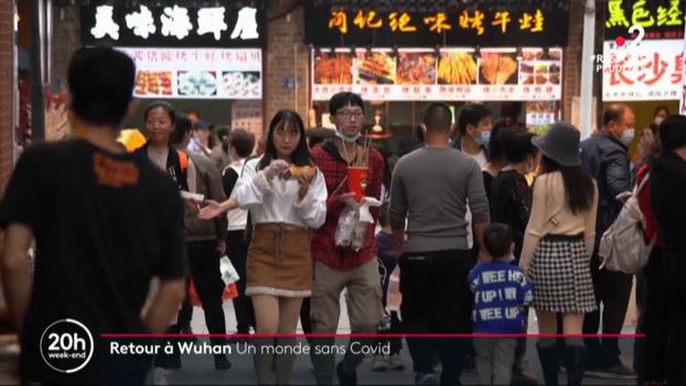 法国媒体报道武汉恢复正常生活(视频截图)