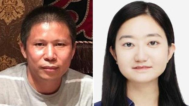 """左图:中国""""新公民运动""""发起人许志永。右图:李翘楚。(北京公民李蔚推特图片/李翘楚推特图片)"""