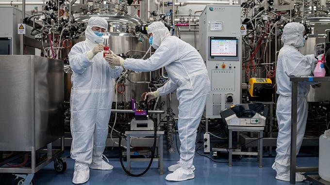 正在研制新冠疫苗的中国科兴生物科技有限公司(法新社)