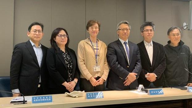 在台湾的中研院发表瑞德西韦合成成果记者会。(记者 黄春梅摄)