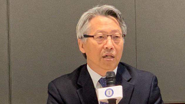 中研院院长廖俊智表示台湾药物合成已达国际水准。(记者 黄春梅摄)