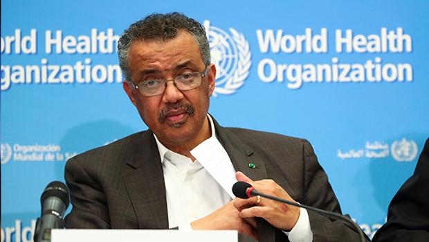 世界卫生组织( WHO )秘书长谭德塞低估疫情,超过20万人参与网上联署,要求谭德塞下台。(路透社资料图片)