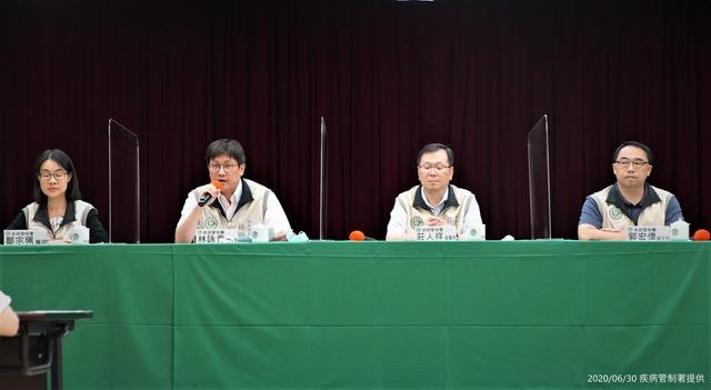 台湾疾管署30日记者会上,对中国传出新型猪流感作出回应。(疾管署提供)